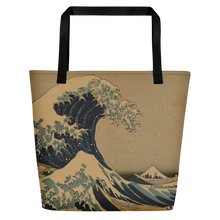 Load image into Gallery viewer, Beach Bag Hokusai Wave