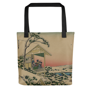Tote bag Hokusai Tea House