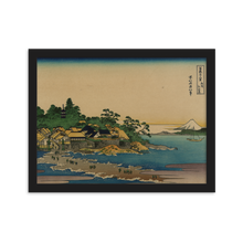 Load image into Gallery viewer, Framed matte paper poster Hokusai Enoshima in Sagami Province