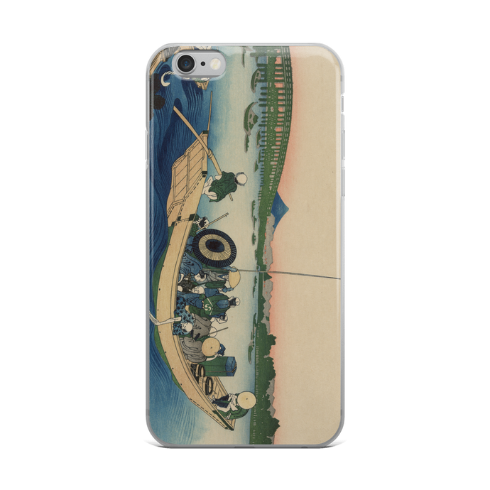 iPhone Case Hokusai Sunset Across the Bridge over the Sumida River
