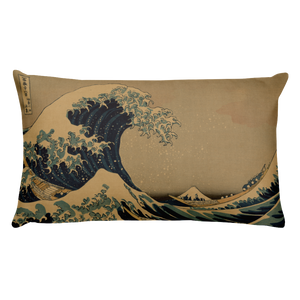 Basic Pillow Hokusai Wave