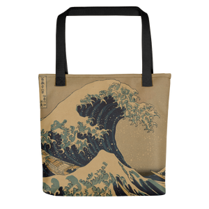 Tote bag Hokusai Wave