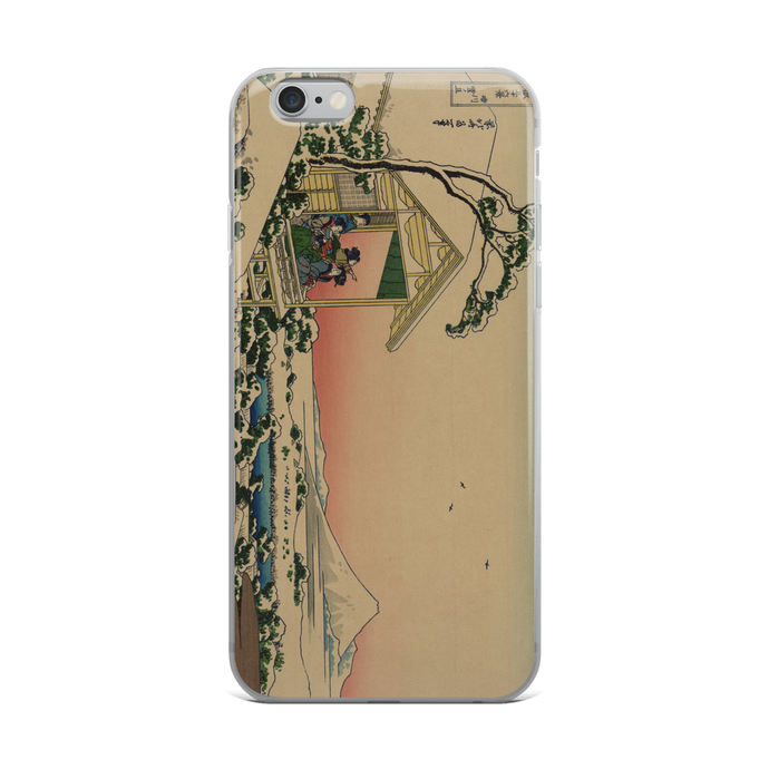 iPhone Case Hokusai Teahouse at Koishikawa