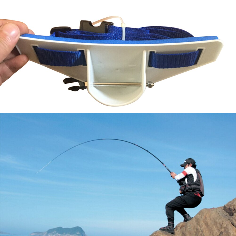 Big Game Fishing Stand Up Fight Belt Waist Gimbal Pad Rod Belt Rod Holder