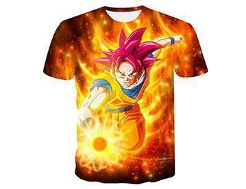 【Authentic Guarantee】Dragon Ball series 3D printing T -Shirts #style10