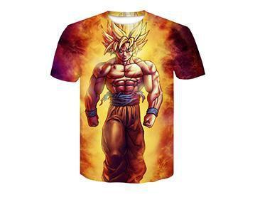 【Authentic Guarantee】Dragon Ball series 3D printing T -Shirts #style22