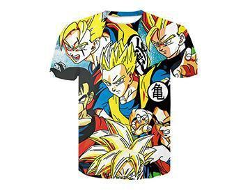【Authentic Guarantee】Dragon Ball series 3D printing T -Shirts #style25