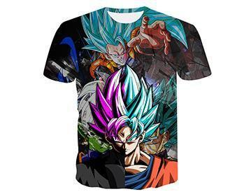 【Authentic Guarantee】Dragon Ball series 3D printing T -Shirts #style4