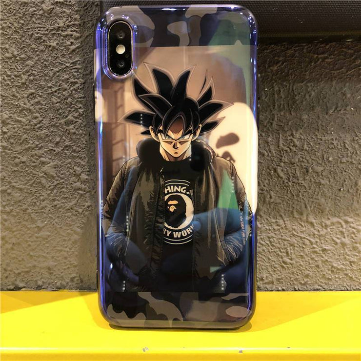 【Blue-ray】Son Goku No 18 Soft Rubber Case for iPhone X S MAX R