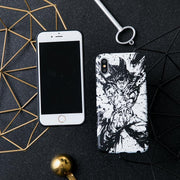 【Ink painting】 Silica gel Son Goku Vegeta iphone case X XS