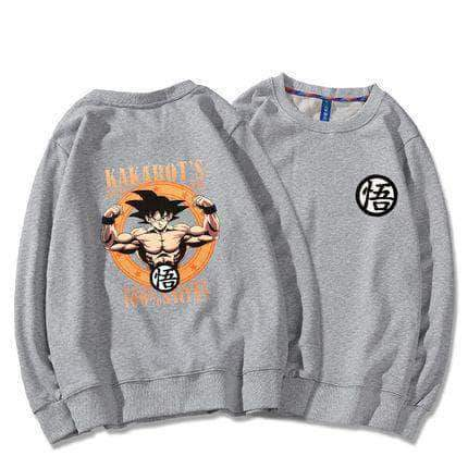 Muscle Goku Round Neck Sweater 4 Color Available