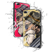 【TEMPERED GLASS】 Exclusive Design Hand-drawn Muten Roshi Phone Case