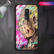 【TEMPERED GLASS】Goku Vegeta Buu Beerus Samsung Phone Case