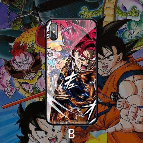 【TEMPERED GLASS】 Tide brand Goku phone case