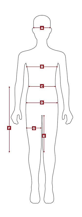 Womens Sizing Body Diagram