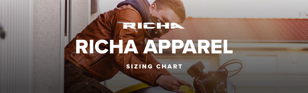 Richa Motorcycle Sizing Chart - City Honda Manawatu