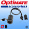 TM-SAE76 - OptiMate SAE Cigarette Lighter Socket Lead - converts your OptiMate connection lead to a power outlet for GPS Satnav, mobile phone chargers, laptops etc
