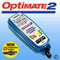 Optimate 2 - easy to use with a simple LED display at a low price. 0.8 Amp charge rate. SAE connection