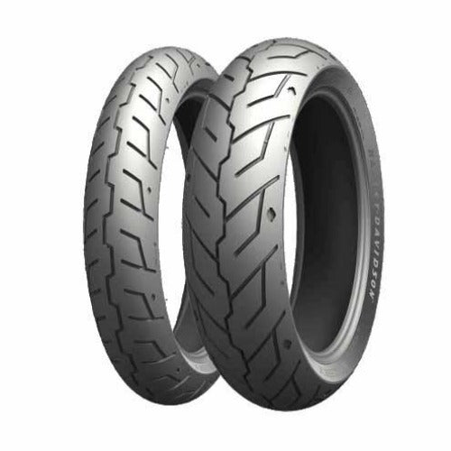 Michelin Scorcher 21 (front and rear pictured) has been conceived exclusively for Harley-Davidson Street Rod and can handle the potholes and ruts of the city, attack and eat the pavement