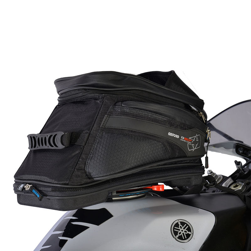 OXFORD Q20R QUICK RELEASE ADV TANK BAG BLK