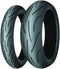 Michelin Pilot Power Front and Rear tyres quickly reach optimum temperature, have phenomenal grip and are made of the softest rubber mix in its class