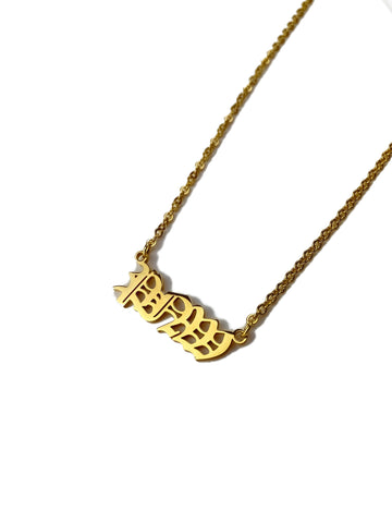 """PNW"" Gold Necklace"