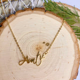 """Auntie"" Gold Necklace"