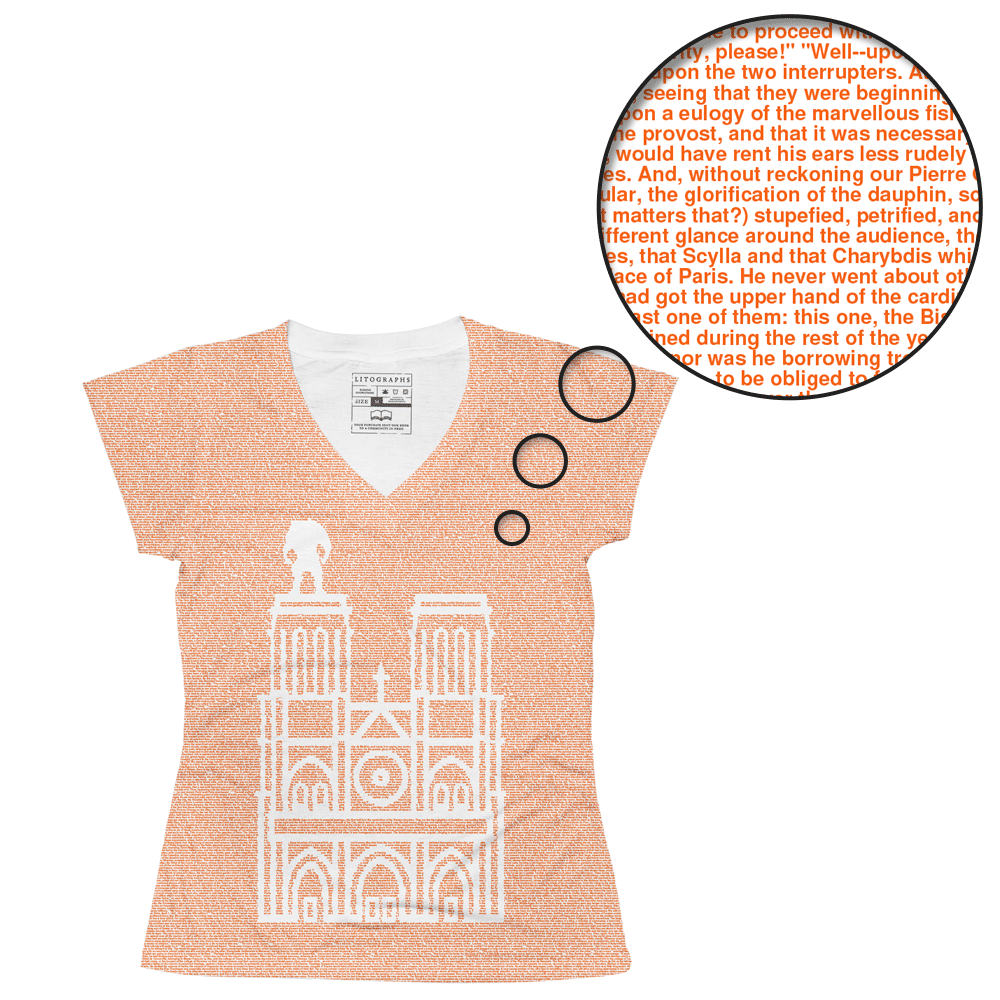 6f049c34 Litographs | The Hunchback of Notre Dame | Book T-Shirt