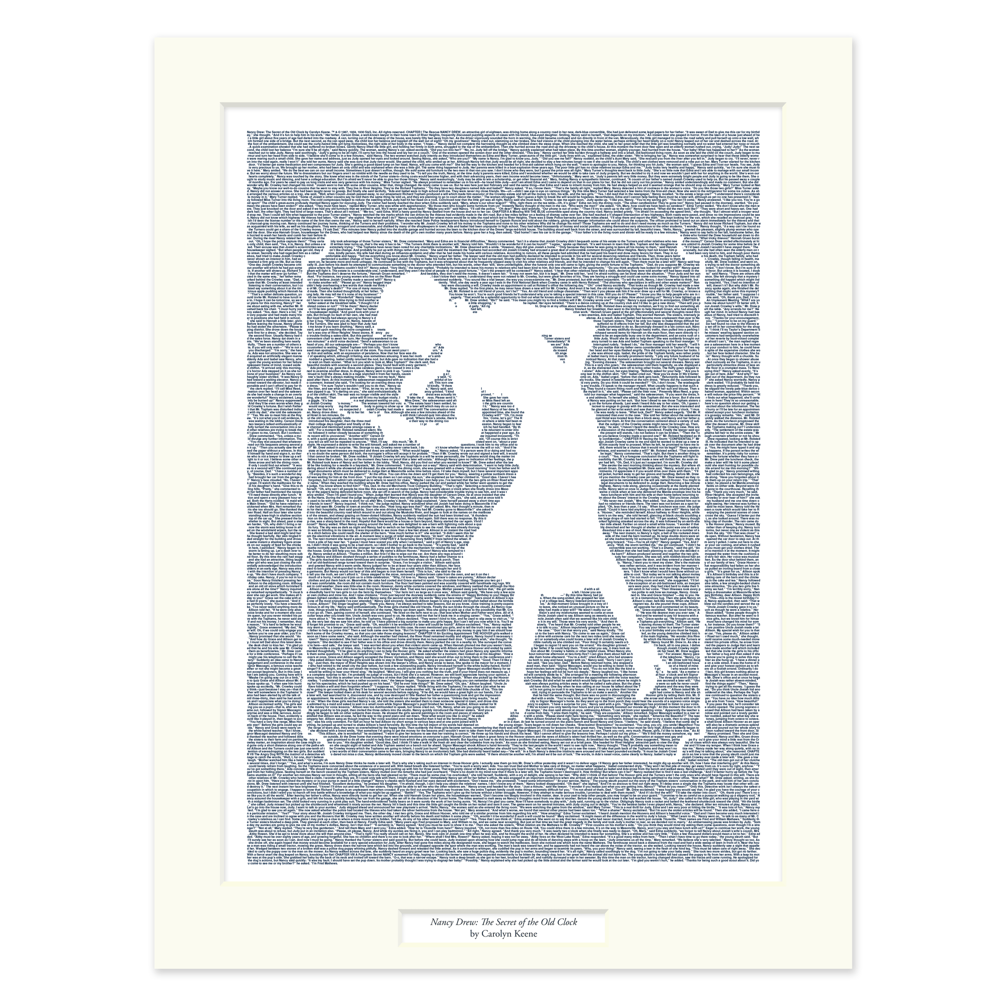 Litographs | Nancy Drew: The Secret of the Old Clock | Book Poster