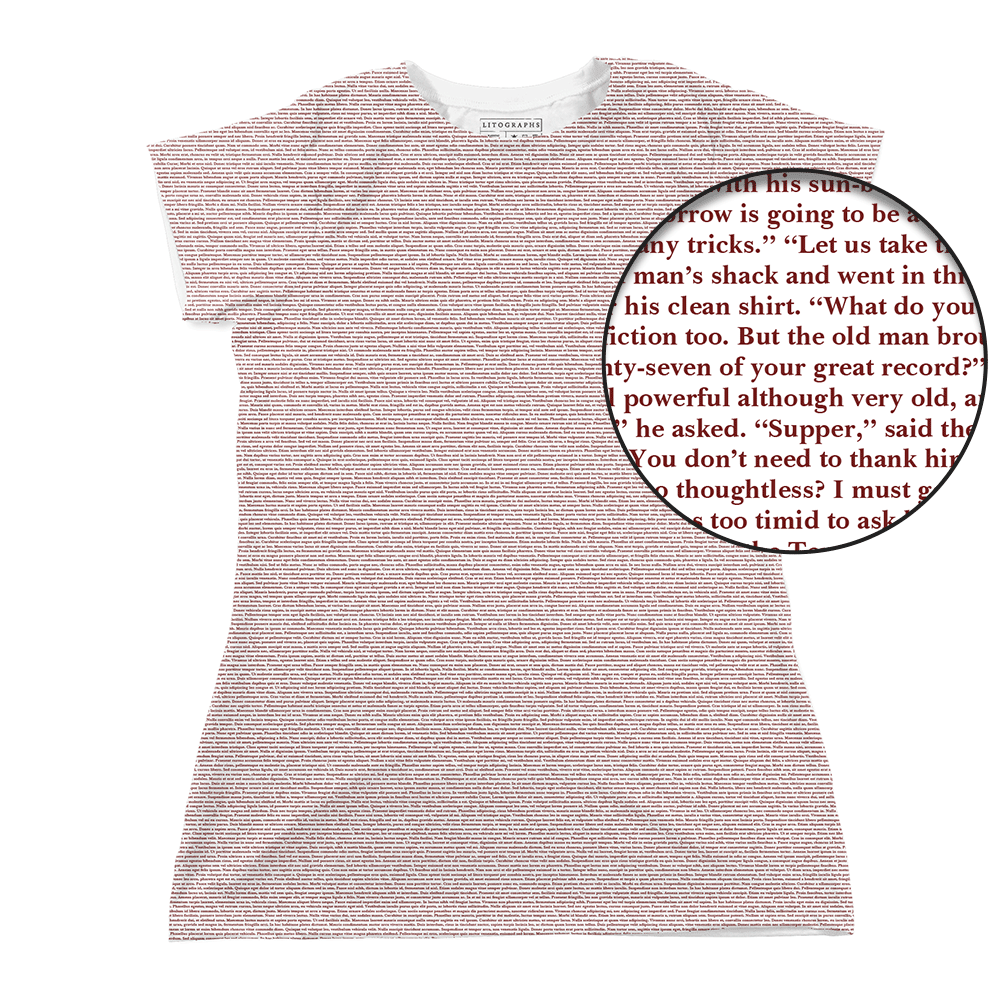 c90269364 Litographs | The Old Man and the Sea | Book T-Shirt