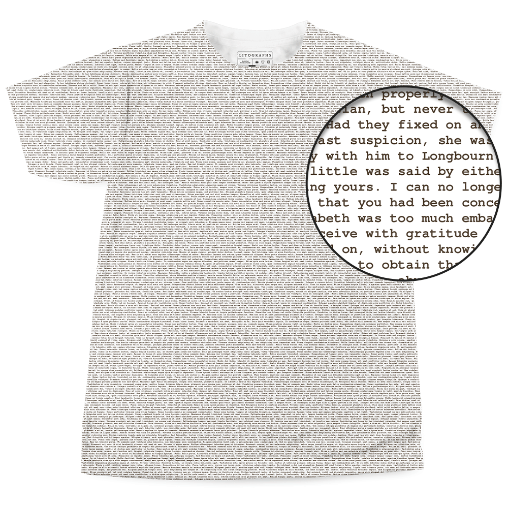 Litographs Pure Text T Shirts