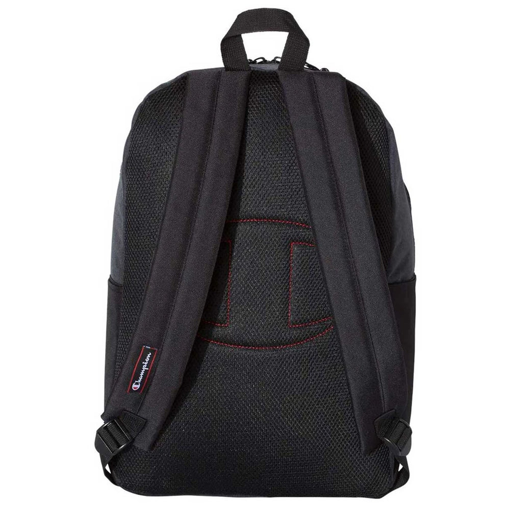 Logo Champion Heather Black With Black Back Pack