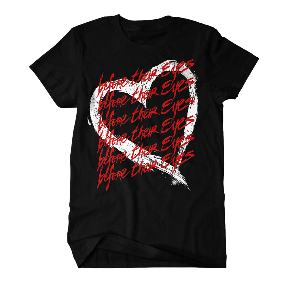 Heart Black T-Shirt