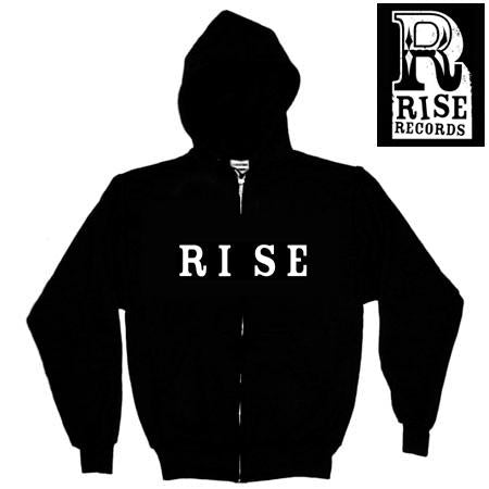 Rise Records Logo Black Zip-Up