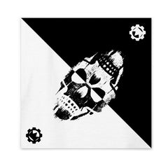 Double Skull Black/White Bandana