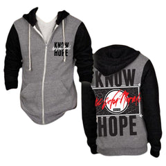 Know Hope Grey/Black Zip-Up