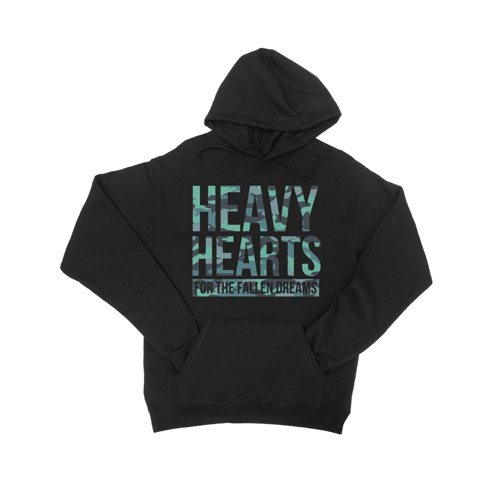 Heavy Hearts Black Hooded