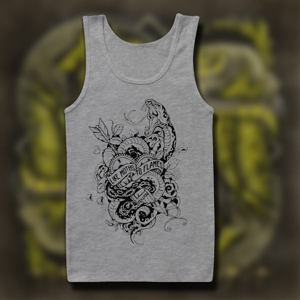 Snakes & Heart Heather Grey Tank Top