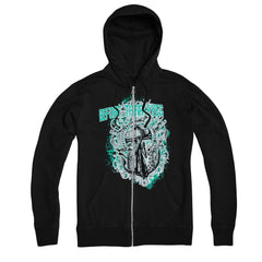 Anchor Black Zip-Up