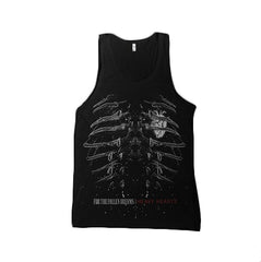 Ribs Black Tank Top