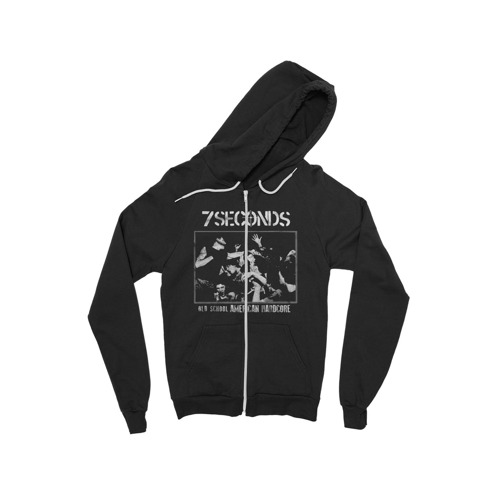Old School American Hardcore Black Zip-Up