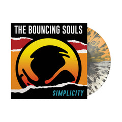 Simplicity LP - Half Clear/Half Orange w/ Black Splatter