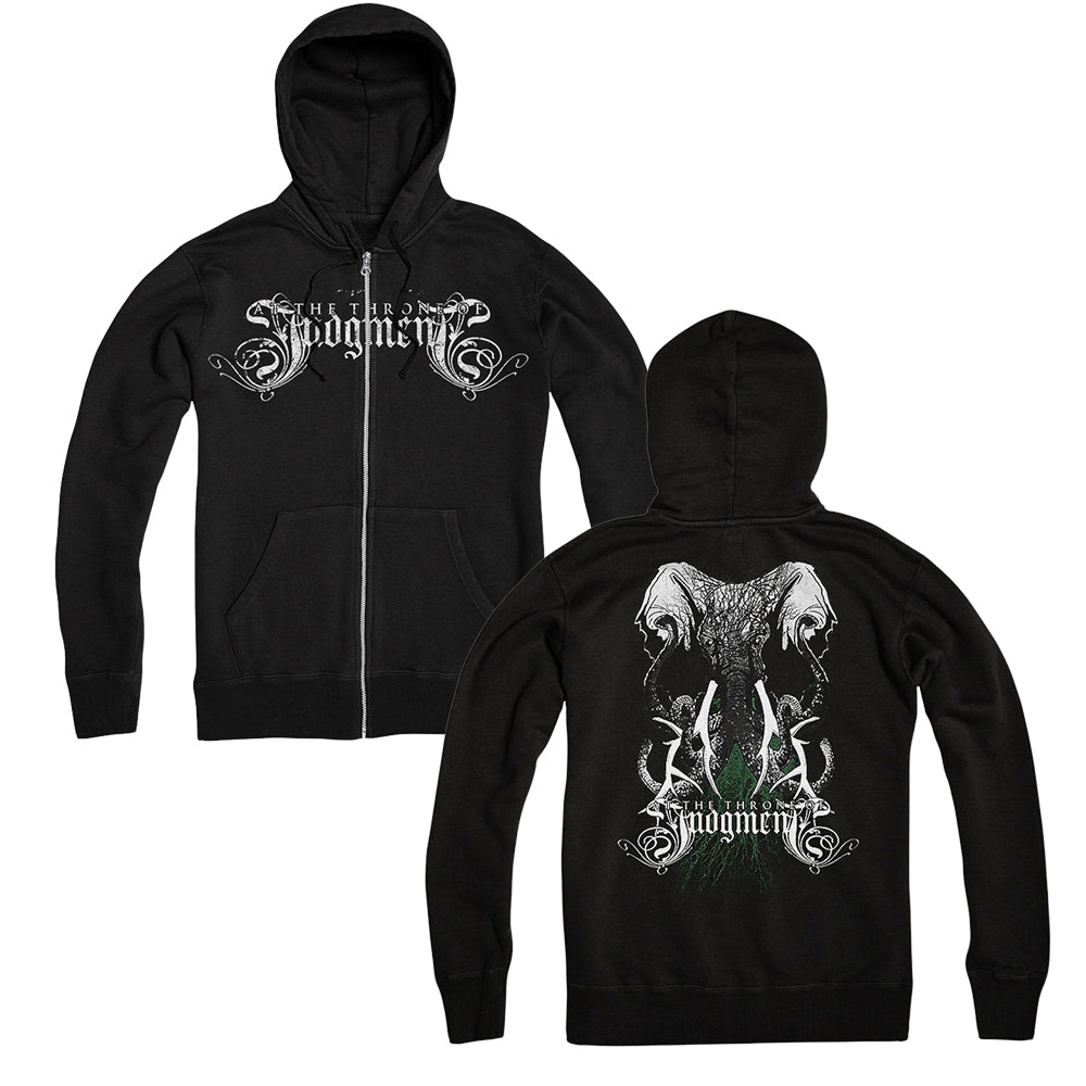 Elephant Black Zip-Up