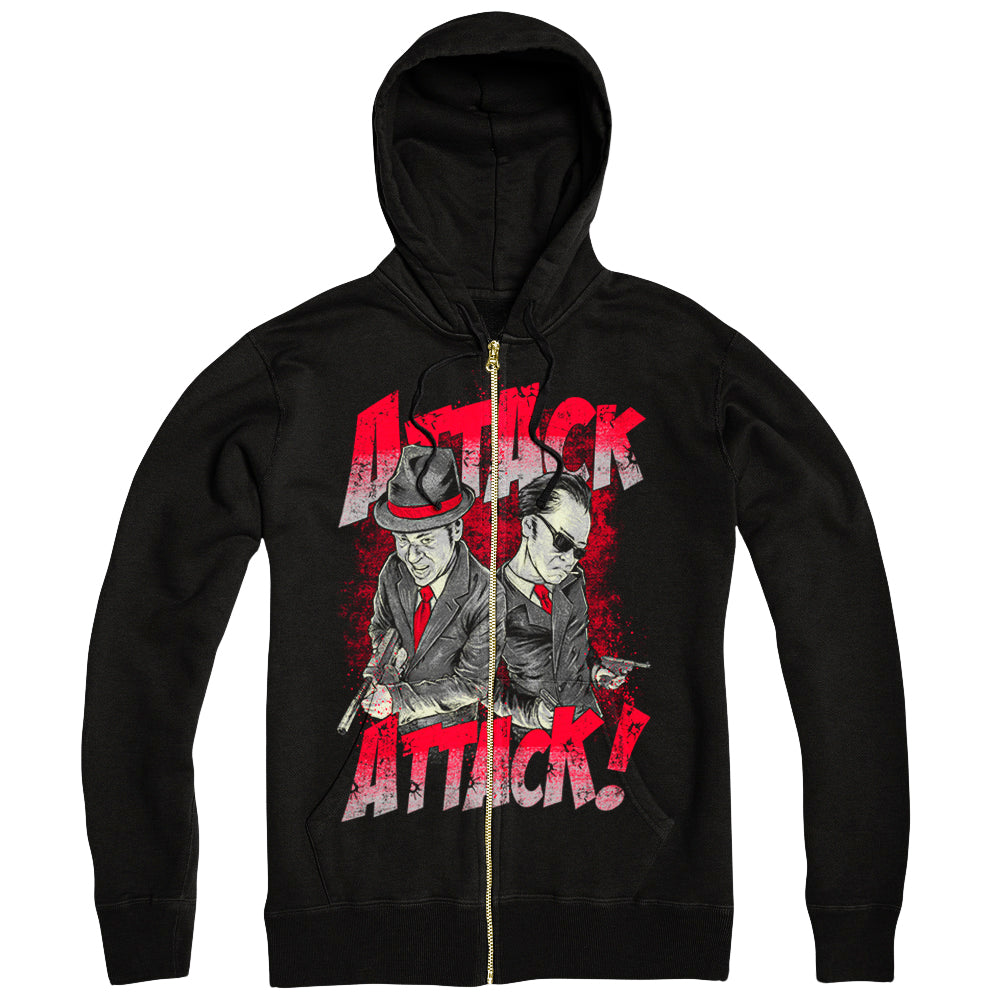 Mobster Black Zip-Up