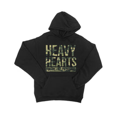 Heavy Hearts Camo Black Hooded Pullover