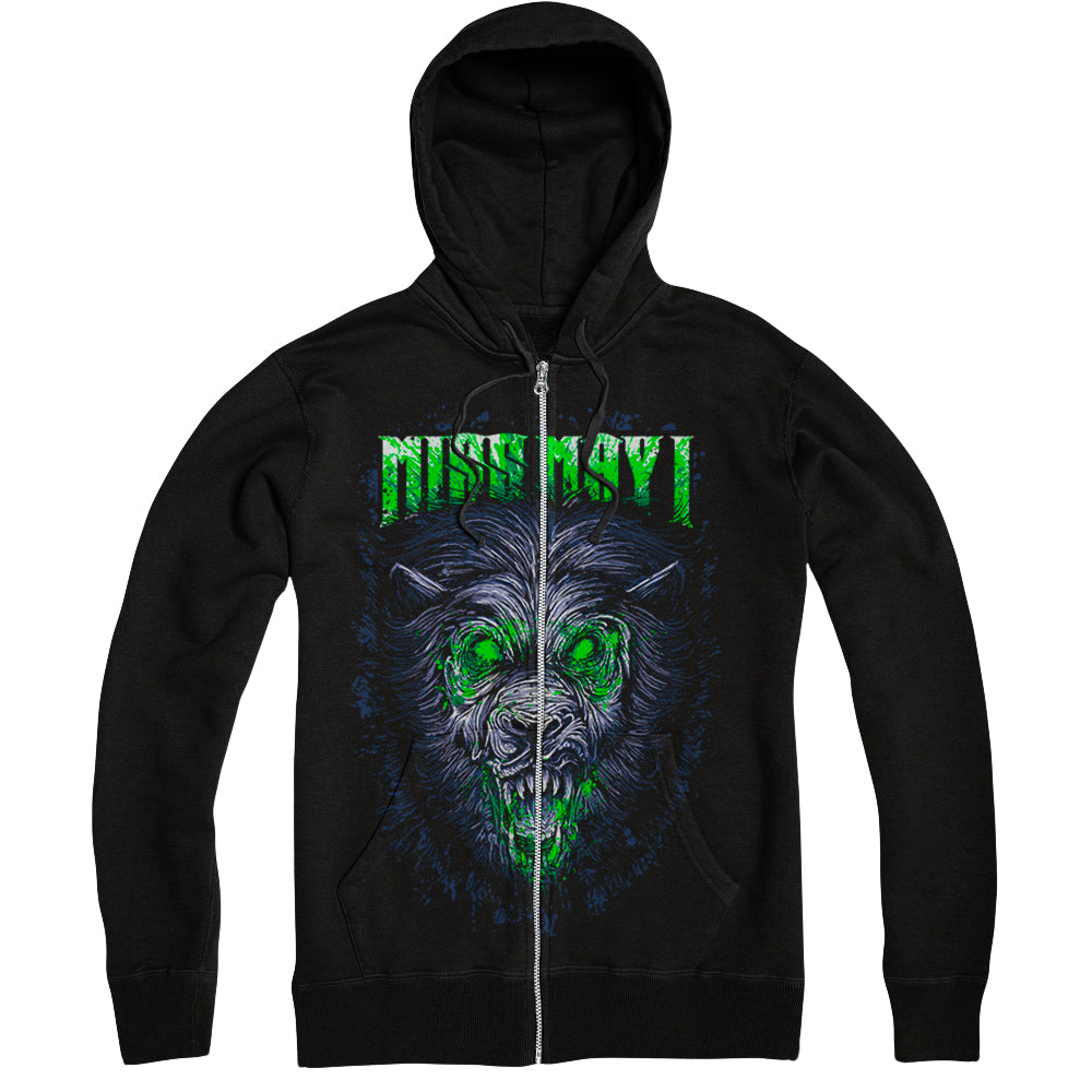 Lion Black Zip-Up