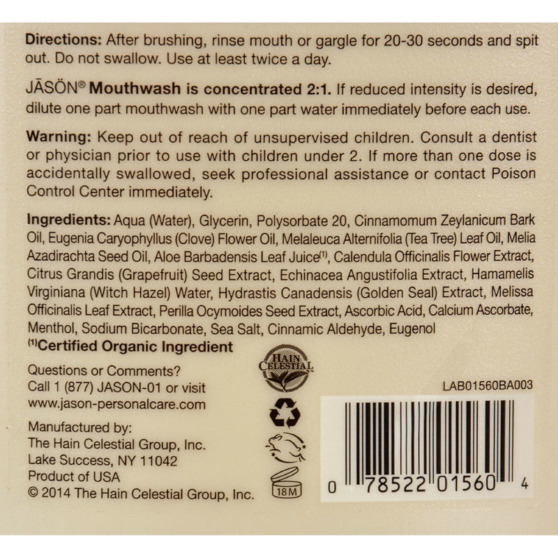 Jason Healthy Mouth Mouthwash Cinnamon Clove - 16 fl oz