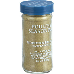 Morton and Bassett - Seasoning - Poultry - Case of 3 - 2.1 oz.