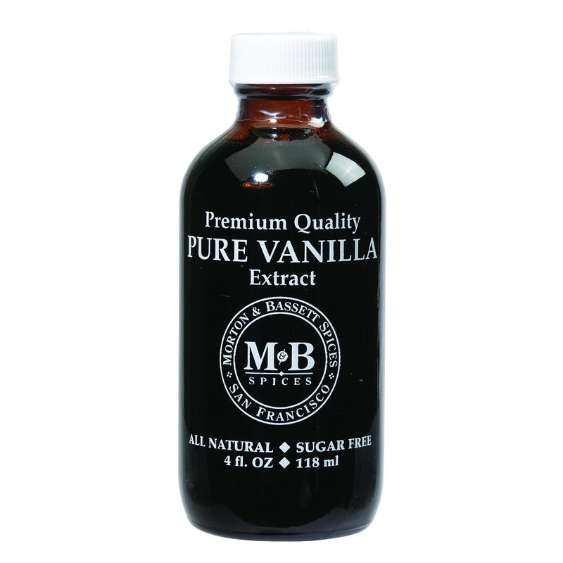 Morton and Bassett Seasoning - Vanilla Extract - Pure - 4 oz - Case of 3