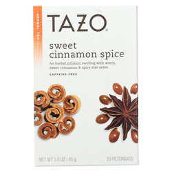 Tazo Tea Herbal Tea - Sweet Cinnamon Spice - Case of 6 - 20 BAG
